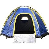 OUTAD Tente Imperméable Hexagonale 3-4 Personnes grande Tente Camping Randonnée avec Sac de Transport