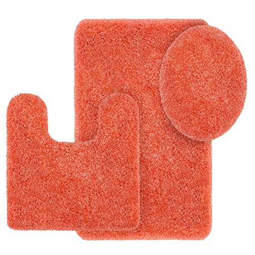 Better Homes and Gardens Thick and Plush 3-Piece Bath Rug Set, Gulf Coral ()