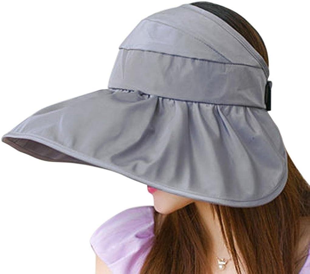 bao Core estilo coreano Mujer Dama Niñas Verano Elegante ala ancha gorro para el sol protección UV Plegable Packable Beach Sun Hat Cap, Mujer, color gris, tamaño Talla única
