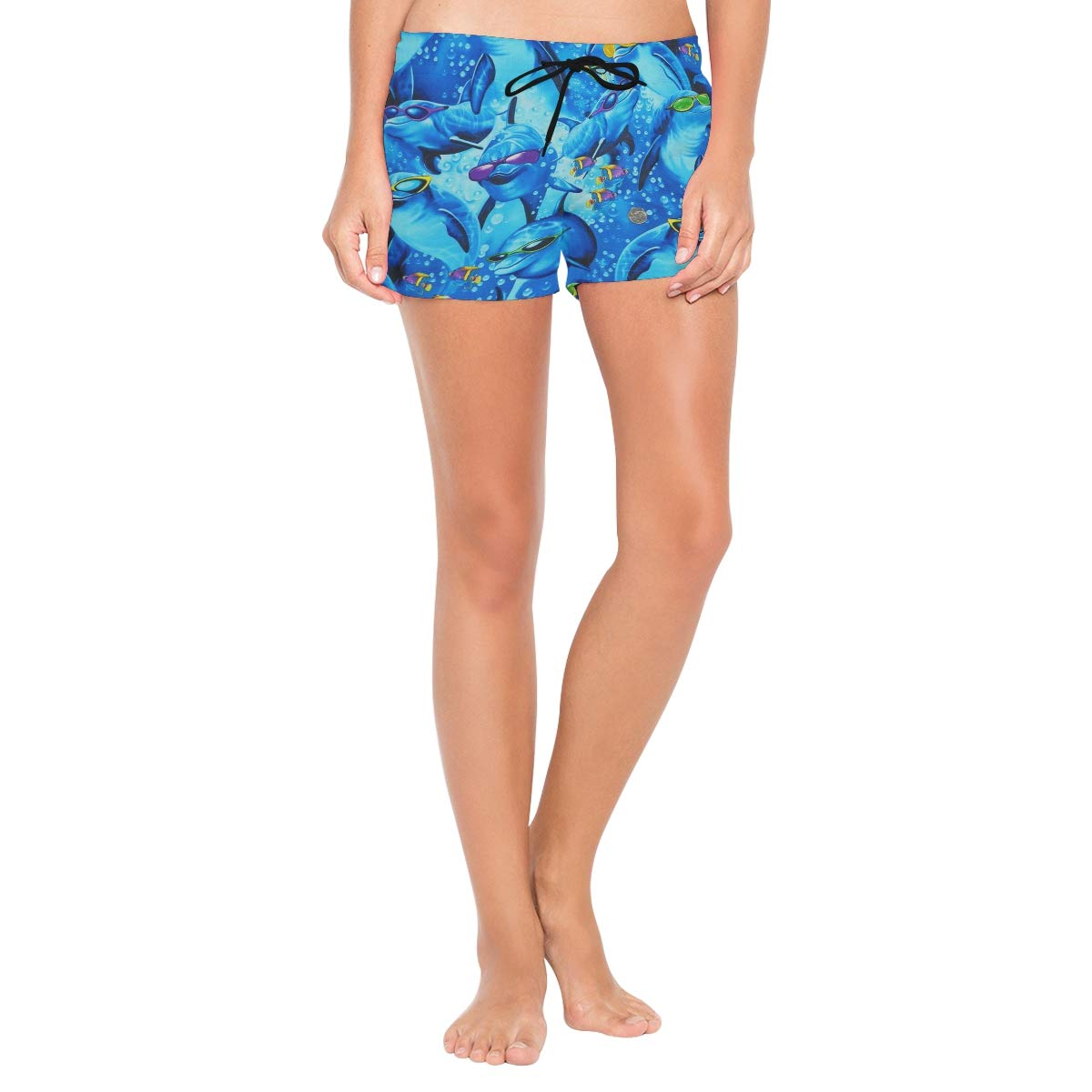 Sunglasses Dolphin Gang Womens Quick Dry Swim Trunks Swimming Shorts with Mesh Liner