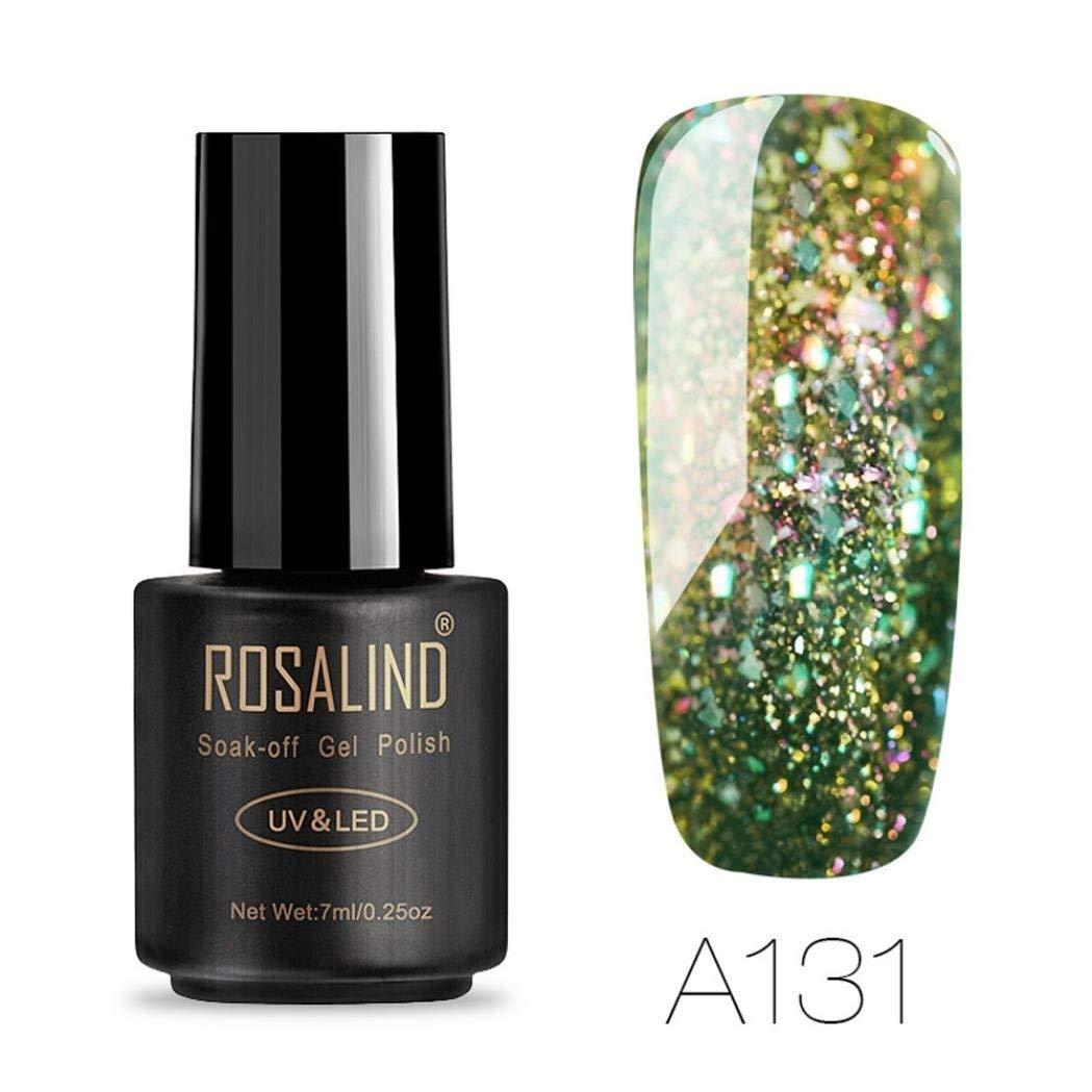 Gel Nail Polish, Lavany 7ML UV LED Gel Nail Polish Glitter Nail Polish Polish Gel Nail Art for Women (A)