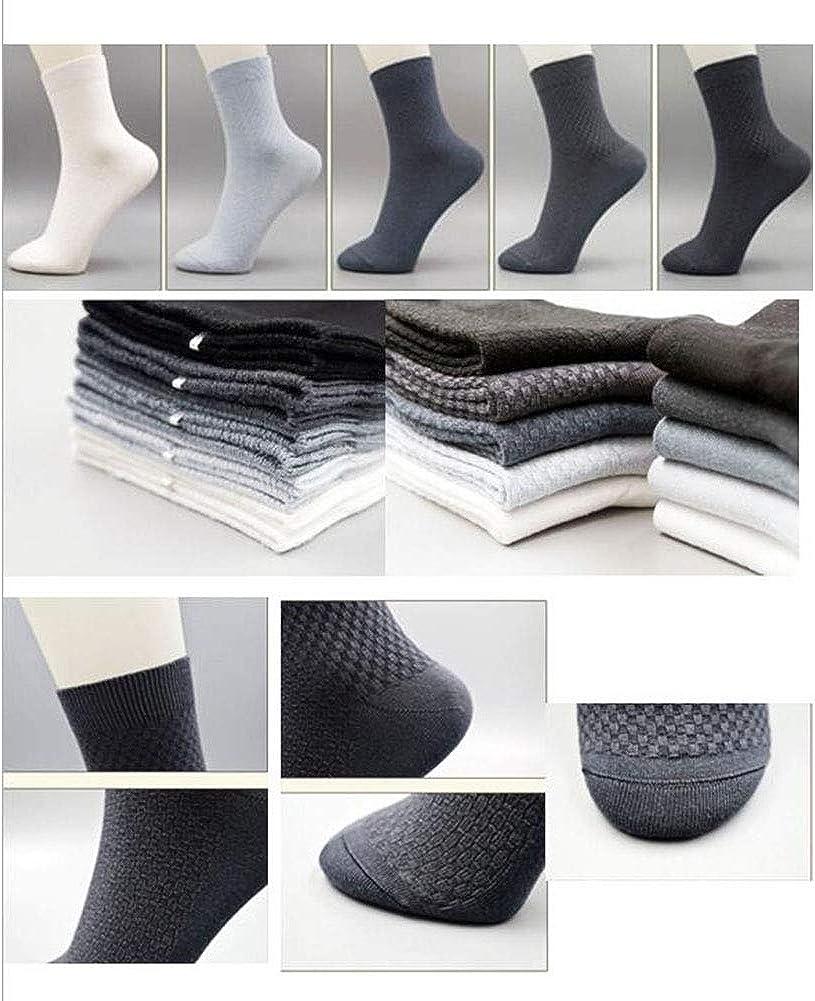 George Jimmy 8 Pairs Men Socks Bamboo Fiber Soft Anti-Sweat Antibacterial Fall Winter Socks Decent Gift-A04