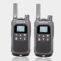 SOCOTRAN Talkies-Walkies Longue Portée Radios Bidirectionnelles Rechargeables PMR 446 MHz sans Licence Émetteur-Récepteur VOX 8CH PTT avec Batterie Code Confidentiel pour la Randonnée en Camping T80