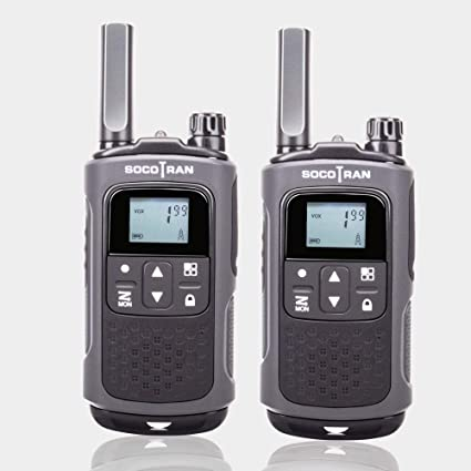 SOCOTRAN Walkie Talkie Recargable de Larga Distancia Walkie ...