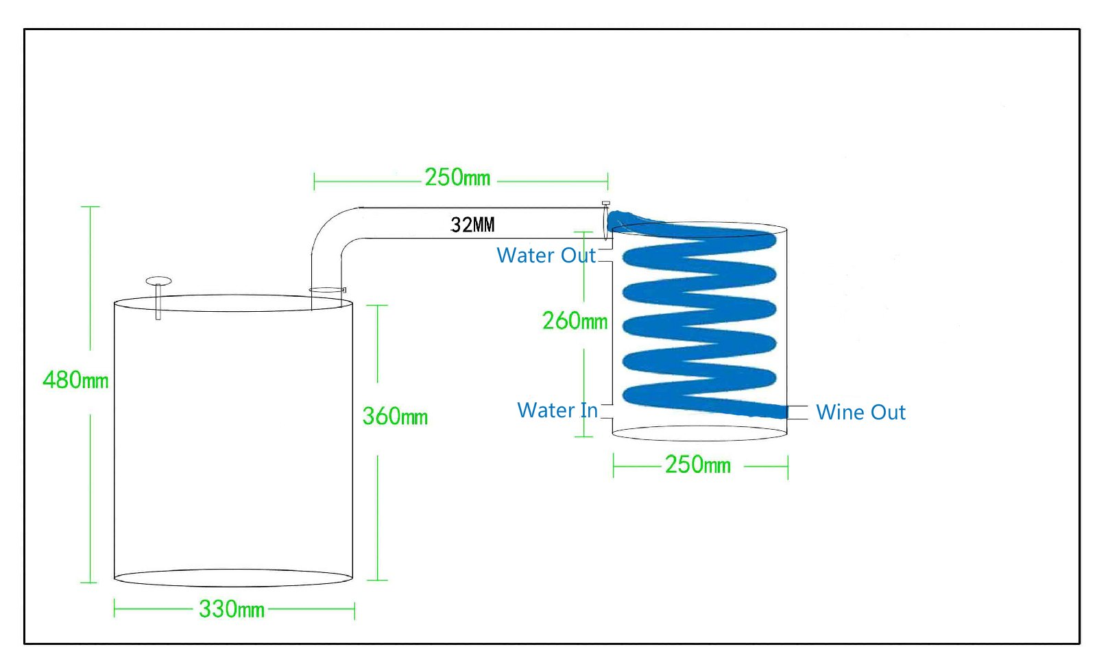20-70 Litre DIY Alcohol Whiskey Water Distiller Copper Home Brew Kit Wine Making Equipment Moonshine Still