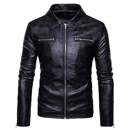 Big Promotion!2019 New Men Jacket,Men Autumn Winter Leather Jacket Biker Motorcycle Zipper