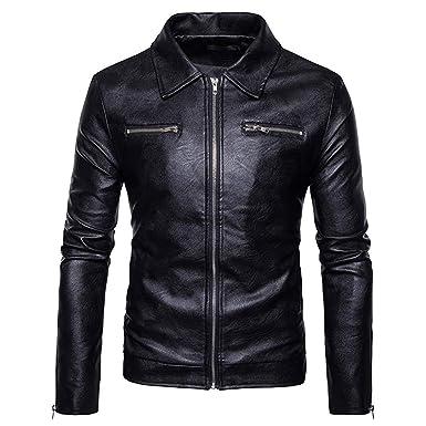 Boomboom Mens Winter Clothes, Cool Style Teens Boys Biker Moto Zipper Tops Jackets (S