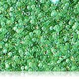 "100% Custom Made (3mm) 1000 Bulk Pieces of Mini Size ""Glue-On"" Flatback Embellishments for Decorating, Made of Acrylic Resin w/Shiny Iridescent Crafting Rhinestone Crystal Iced Emerald Style {Green}"