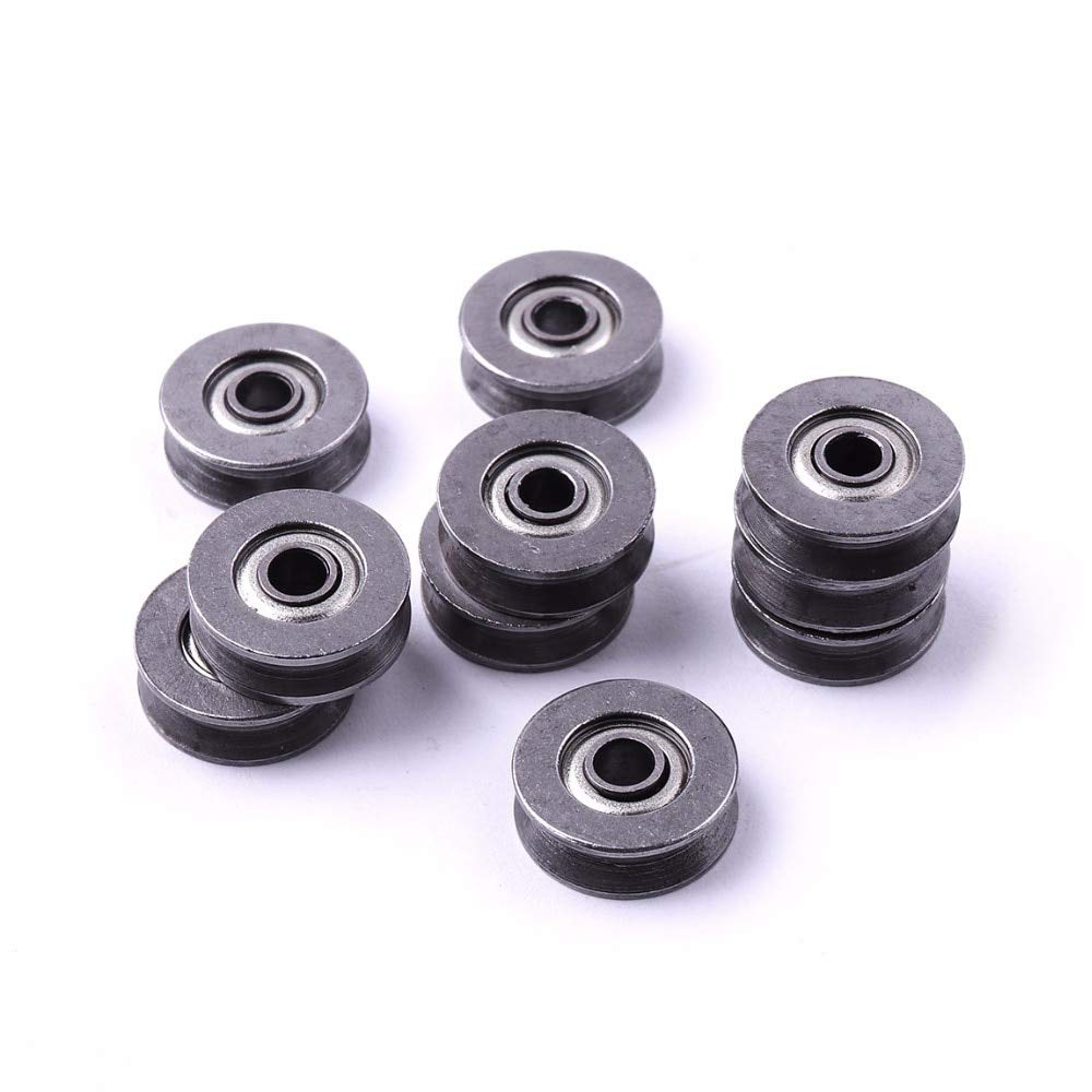Length: 5x22x5mm Ochoos 10 PCS 3124mm 5225mm 5165mm V623//603ZZ High Carbon Steel V-Groove Traces Pulley Wheel Timing Rodas Pulley Belt