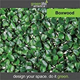 GreenLife America Pack of 12 Artificial Boxwood Mat Panels, 20'' L x 20'' W
