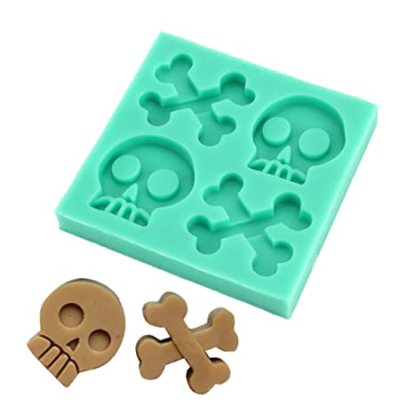 Molde de silicona de esqueleto UniqueBella arcilla de horno para tartas con forma de Chocolate diseño