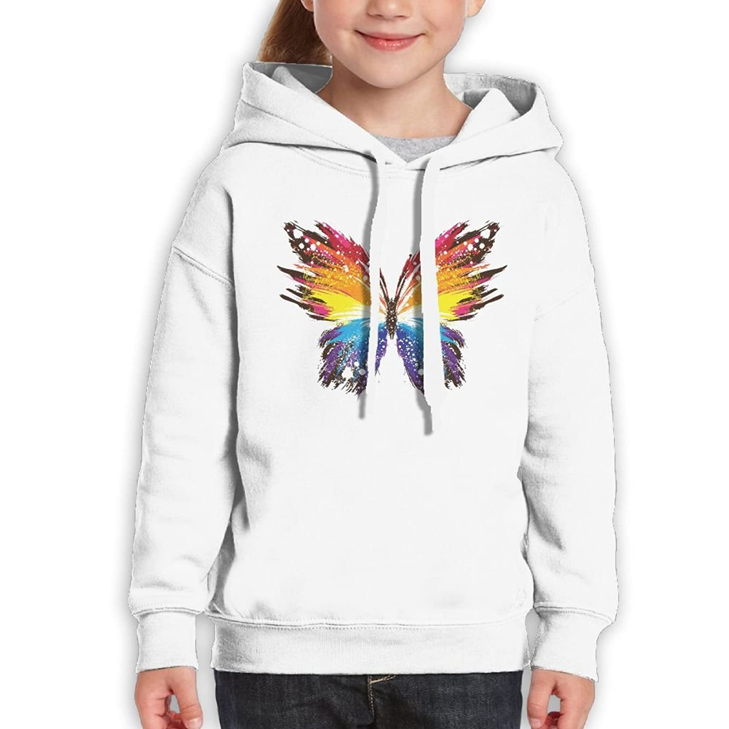 6e5dc31797b Teenager Pullover Hoodie Sweatshirt Butterfly Teen s Hooded For Boys Girls