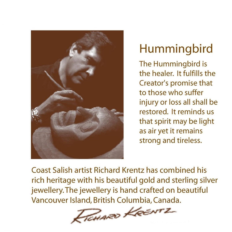 Amazon sterling silver teardrop hummingbird pendant pacific amazon sterling silver teardrop hummingbird pendant pacific northwest coast native jewelry biocorpaavc Gallery