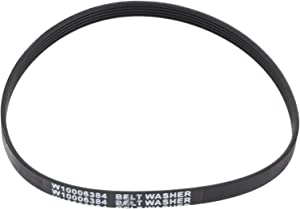 DRELD W10006384 Washer Drive Belt, Replaces Part # WPW10006384VP PS11747978 1871380 AH2579381 EA2579381 PS2579381, Compatible with Whirlpool, Kenmore,Maytag, Magic Chef