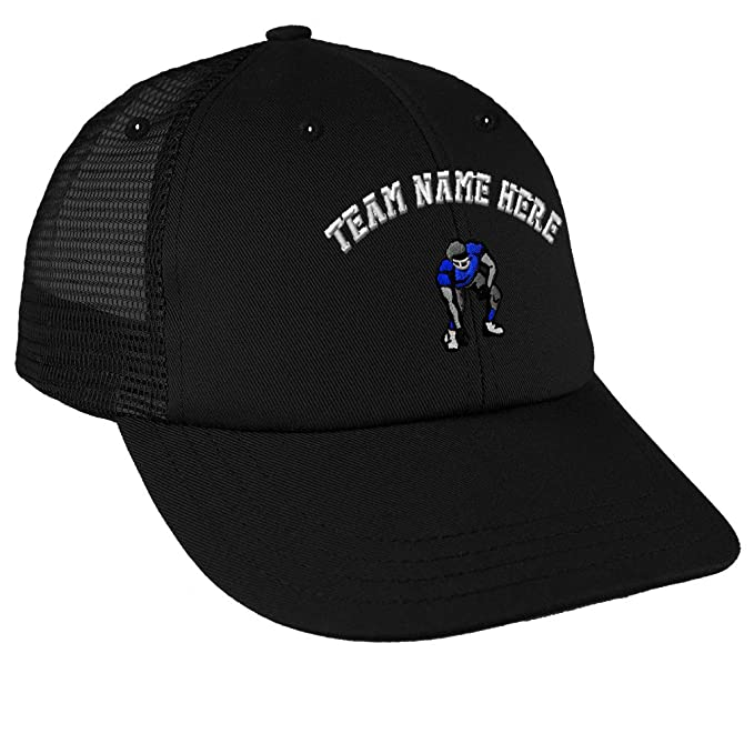 603e033ecde Snapback Baseball Cap Sport Football Player Stance Embroidery Team Cotton  Mesh Hat Snaps - Black