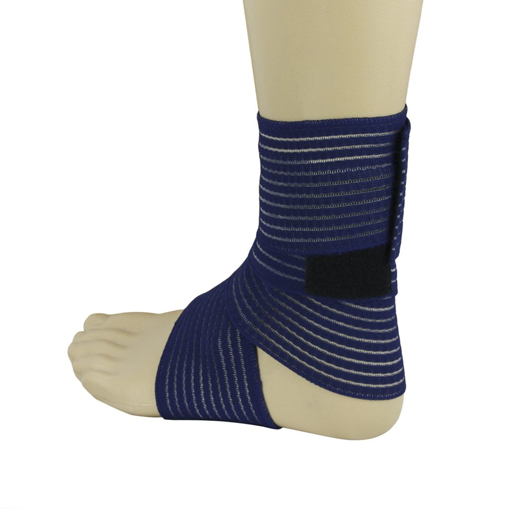 BXT A Pair (2 Pieces) Elastic Breathable Wrap Ankle Support Brace Compression Knee Elbow Wrist Ankle Hand Support Wrap Sports Bandage Strap Hook & Loop Fastener Straps(ONE PIECE) by BXT (Image #5)