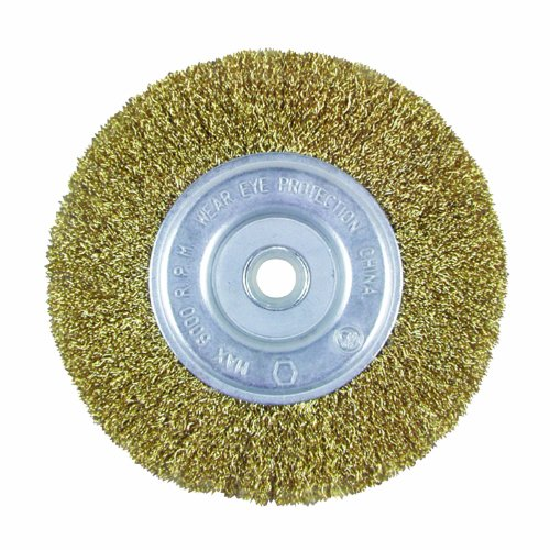Crimp Wheel - Task Tools T25647 1/2-Inch to 5/8-Inch Fine Crimp Wire Wheel with 6-Inch Diameter