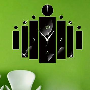 Forepinreg Modernes Design 3D DIY Wanduhr Acrylglas Spiegel Aufkleber Grosse Uhr Fr Zimmerdeko Wohnkultur Wohnzimmer