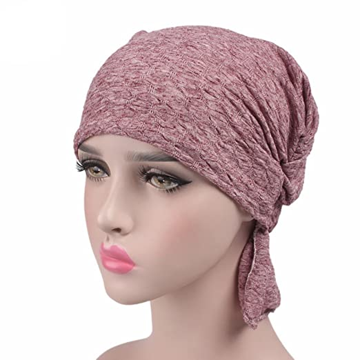 5af007b5a81 Image Unavailable. Image not available for. Color  Biback Women s Cotton  Turban Headwear Chemo Beanie Cap for Cancer Patients Hair Loss