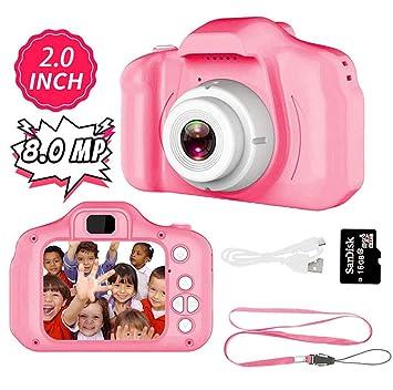 Amazon.com: SYCYKA Cámara digital de juguete para niños ...