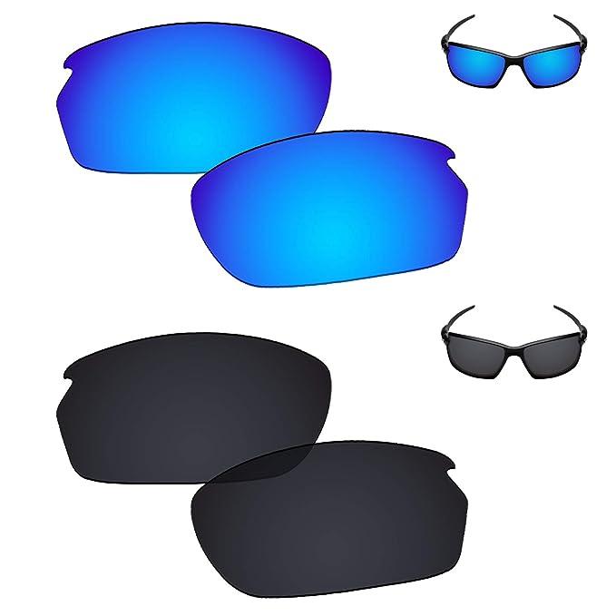 cc6e835556db Galvanic Replacement Lenses for Oakley Carbon Shift Sunglasses - Ice + Black  Polarized - Combo Pack