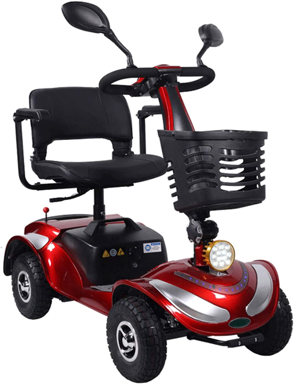 MILECN Scooter Eléctrico De 4 Ruedas para Discapacitados, Scooter Plegable New Energy, Bicicleta para Adultos Mayores Discapacitados, Motor De 20AH 350W, Resistencia 35 Km