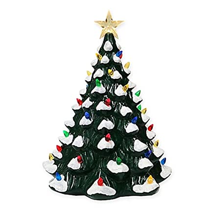 ceramic led vintage christmas tree with this vintage christmas tree you can add wonderful