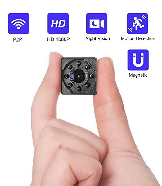 Cámara espía Oculta WiMaker, HD 1080P Mini cámara espía WiFi P2P Monitor de Corta Distancia para visualización del teléfono/visión Nocturna/detección ...