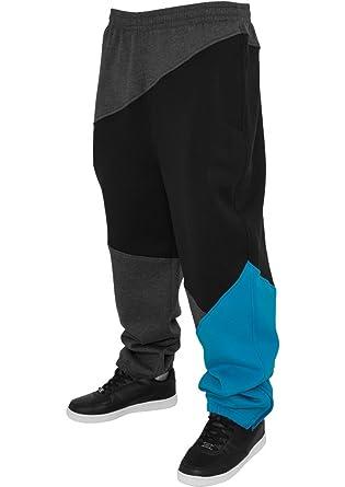 Urban Classics Herren Jogginghose Zig Zag Sweatpants Urban Fit, Größe:XS;Farbe:charcolblackturquoise