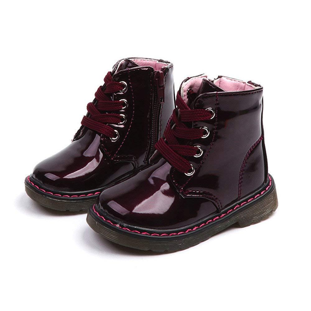 Botas de Ni/ña Ni/ño Riou Invierno Nieve Botas C/álido Martin Botas Antideslizante Al Aire Libre Chicos Chicas Calzado Zapatos Calientes Zapatos Casuales