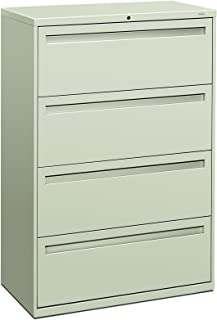 product image for HON 784LQ 700 Series 36 by 19-1/4-Inch 4-Drawer Lateral File, Light Gray