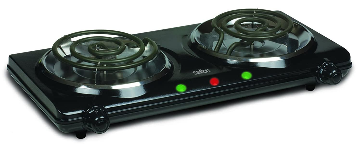 Salton Portable Double Cooktop Toastess International HP1427