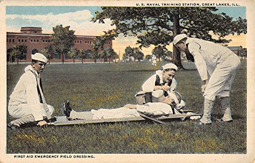 Great Lakes Illinois First Aid Dressing Naval Antique Postcard K41992 (Naval Antiques)