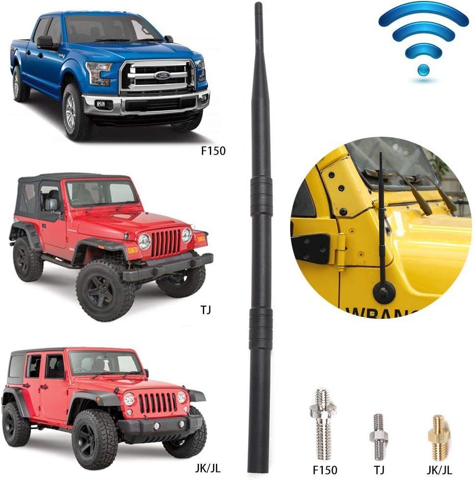 13 Flexible Car Radio Antenna for Ford F150 2009-2019 Universal Antenna for 1997-2019 Jeep Wrangler TJ JK JKU JL JLU