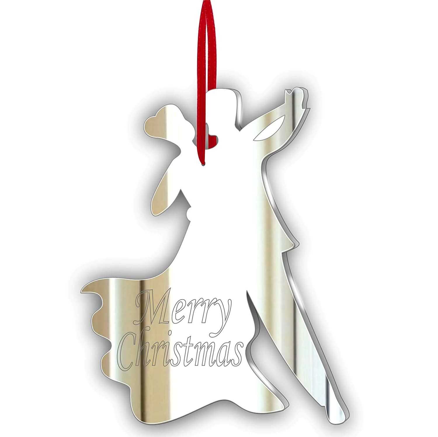 Dancing Couple Acrylic Mirror CHRISTMAS Tree Ornament Personalised Stocking Filler Christmas Decoration