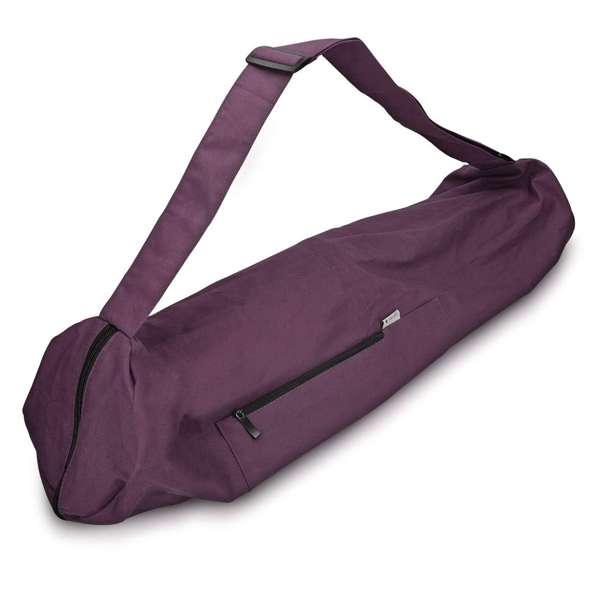 Navaris Yoga Mat Bag - Cotton Yoga Bag with Zipper Pocket and Closure 28.3 x 11.4 inches (72 x 29cm) Large Tote Bag KW-Commerce 44963.22_m000579