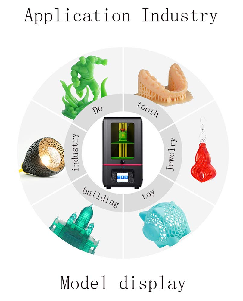 SMGPYDZYP Impresora 3D, FDM 3Dprinter, Impresora 3D De Escritorio ...