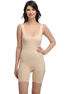 57e4c10e45afb Clovia Women s Laser-Cut No-Panty Lines High Compression Body Suit - Skin