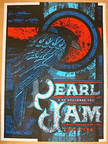 2011 Pearl Jam - Curitiba Concert Poster by Brad Klausen AP