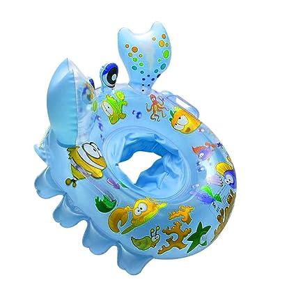 Yousheng Anillo de natación Cangrejos Lindos Bebé Piscina Flotador Anillo Asiento Barco con natación Seguridad Mangos