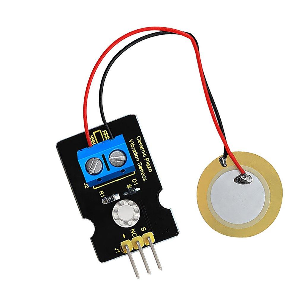 MagiDeal Analógico Piezoeléctrico Sensor Bloqueo Vibración Cerámica Electrónica para Arduino: Amazon.es: Bricolaje y herramientas