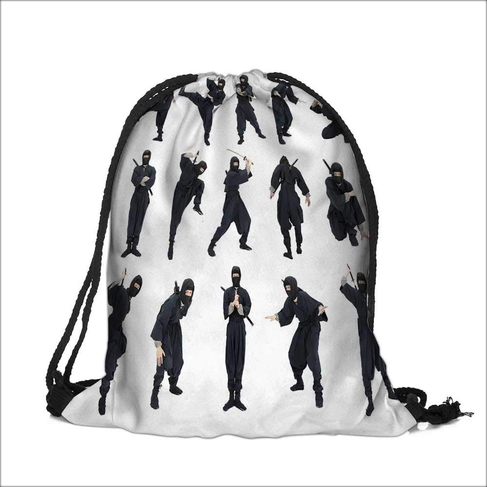 Amazon.com | Draw pocket Polyester Backpack An Image of A ...