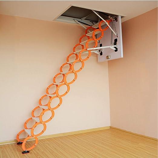 WeeLion Escalera de extensión Invisible portátil para el hogar Aleación de Aluminio-magnesio, Escalera Integral de Pared - Villa/Loft/sótano/almacén Escalera de extensión Plegable Interior,70 * 120cm: Amazon.es: Hogar