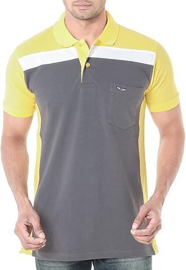 be1e6793bcb Wexford Men s Cotton Polo Neck Half Sleeve T-Shirt (Grey
