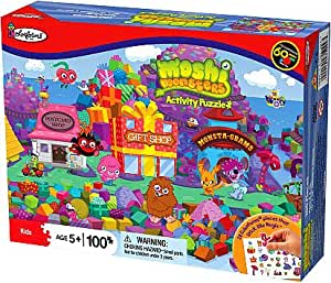 Moshi Monsters Colorforms Gift Island Puzzle Playset