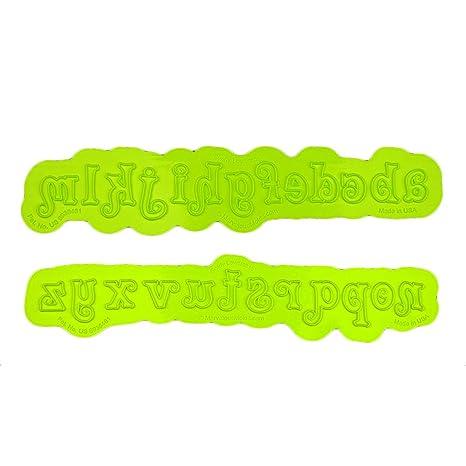 Marvelous Molds Lowercase Alphabet Swirly Flexabet Onlay Kitchen, Dining & Bar Baking Accs. & Cake Decorating