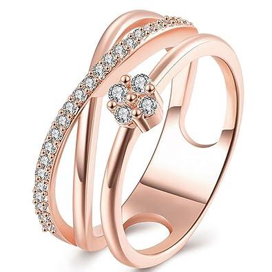 Amazon Com Women S Vintage Infinity Shank Rings Enhancer 18k Gold
