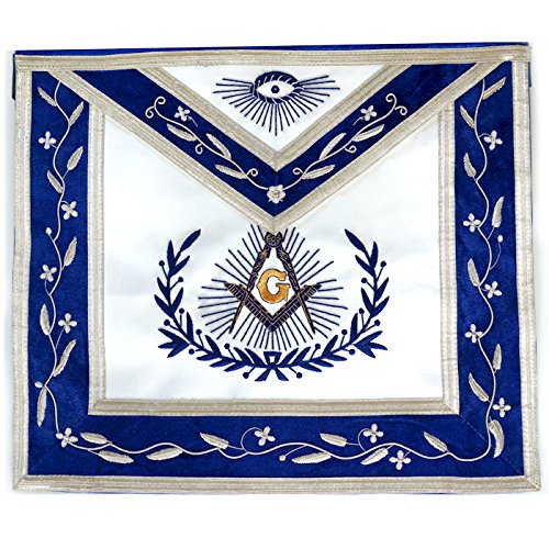 Masonic Master Mason Apron with Embroidered Border