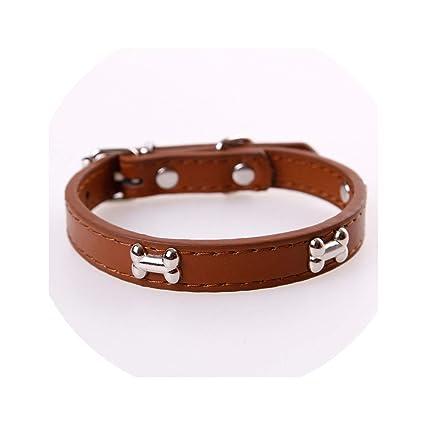 Amazon.com: Collar de piel de hueso para mascotas duradero ...
