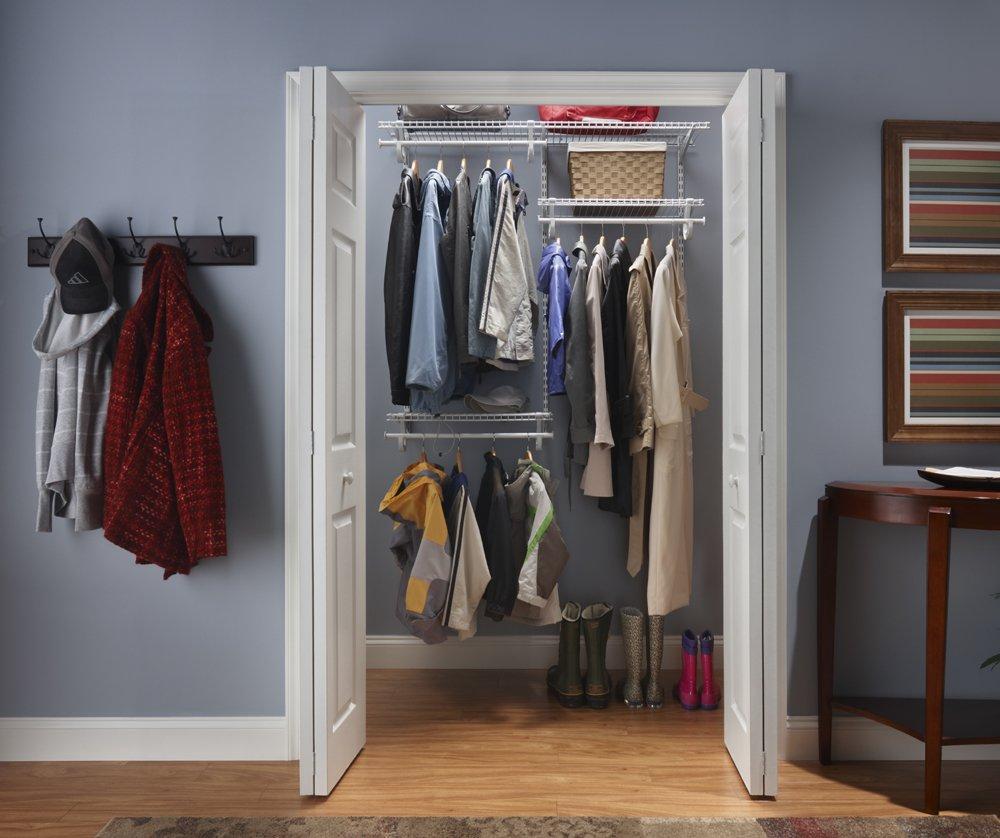 ClosetMaid 22873 Shelf Track Adjustable Closet Organizer Kit White 4 Feet To 6 Amazonca Home Kitchen